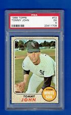 1968 Topps #72 - Tommy John - PSA EX 5 - Chicago White Sox  --  POP 14