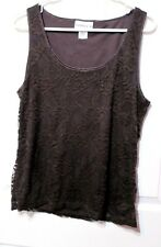 Millers Brown Lace sleeveless top size 14
