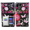 Stand Flip Card Wallet PU Leather Cover Case Phone For Sony Xperia Z Z1 Z2 E1 M2