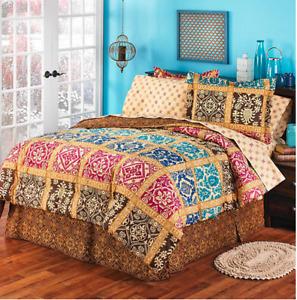 Bologna Jewel Bedding Set in Multi-Color - Full