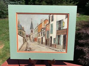 Maurice Utrillo, French Artist, Lithograph, Paris
