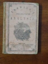 1855 Antique Math Book - Arithmetical Analysis Higher Mental Arithmetic