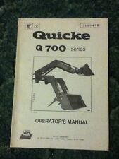 2109144-1B - A New Operators Manual For A Quicke Q700 Series Front End Loader