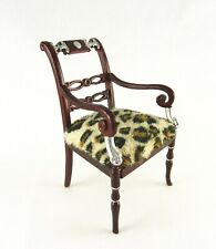 Dollhouse Miniature Collector Art Nouveau Arm Chair, P3466
