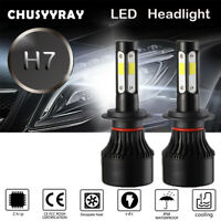 4-Sides LED Headlight Conversion FIT FOR Kawasaki ZX6R ZX10R Z800 Z1000 SX Versy