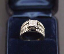 14 K White Gold Diamond Ring Size 6