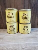 Lot Of 4 Vintage Pipe Tobacco Cans Old Briar With Lids.