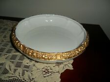 """Rosenthal  Ivory w/Gold Encrusted Band - Serving Bowl- 9"""" Raised gold Maria?"""