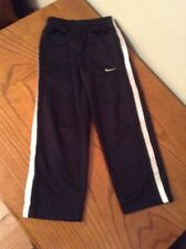 Nike Boys Athletic Track Pants Size 4 100% Polyester Black Excellent Condition