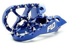 FLO MOTORSPORTS BLUE  WIDE FOOT PEGS 99-2017 Yamaha YZ125 YZ250 YZ250F YZ450F ..