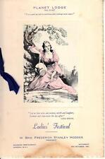 OS030.  Masons. no. 6147. Ladies Festival.Menu. Planet Lodge. 1951.