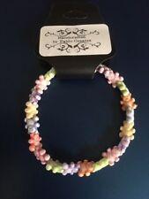 Multi-Coloured Teddy Bears Bracelet, Bright colours, 7inch diam, Acrylic beads