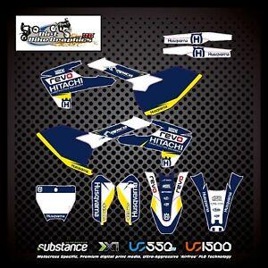 Husqvarna FC 125 250 450 2016 2018 Kit White Blue Yellow (909)
