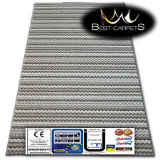 Best Carpets Hardwearing Soft ZIGZAG beige Stain Resistant Stairs Rugs