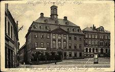 1938 Stempel und Postkarte von BURGSTÄDT Sachsen Litfaßsäule am Ratskeller DR