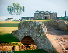 St. Andrews Golf Course/The Open/ 2015/Golf Poster/17x22 inch/British Open