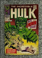 INCREDIBLE HULK #102 1968  MARVEL COMICS  SILVER AGE ORIGIN  VERY NICE