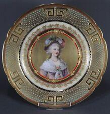 Teller Wandteller Prunkteller Portrait Teller plate porcelain Wien Art Dresden