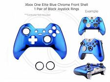 New Xbox One Elite Blue Chrome black rings Controller Soft Front Shell Unique