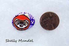 New ListingOriginal Ferret Painting, Whimsy Weasel Stone, Halloween Art- Shelly Mundel