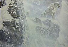 Robert BATEMAN Snow Leopard LTD art Giclee Canvas COA High Kingdom