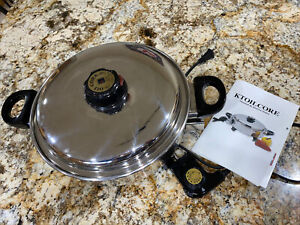 Precise Heat Precise Heat 3-1/2qt Surgical Stainless Steel Oil Core Skillet