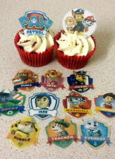 12 PRECUT Paw Patrol Edible wafer/rice paper cupcake toppers