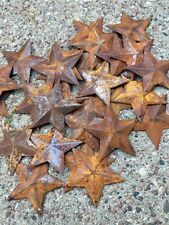 (Set of 20) Rusty Barn Stars 2.25 in 2 1/4 Primitive Country Rust SHIPS FREE!