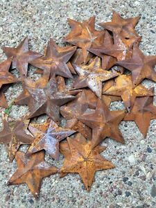 (Set of 20) Rusty Barn Stars 2.25 in 2 1/4 Primitive Country Rust SHIPS FREE! *