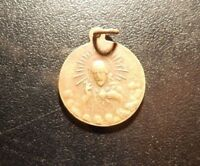 SACRED HEART OF JESUS AND OUR LADY OF FATIMA QUEEN OF THE ROSARY MEDAL! ZZ593UDC