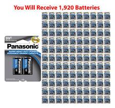 1920x Panasonic 9V Batteries Super Heavy Duty 9 Volt Battery 9V2 Carbon Zinc USA