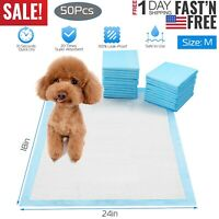 """50Pcs 24"""" x18""""Disposable Pet Dog Wee Pee House Training Pads Potty Moderate"""