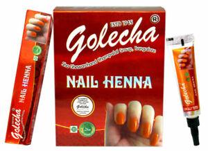Golecha Nail Henna Long Lasting No Harmful Chemicals - Orange - 12 Tubes