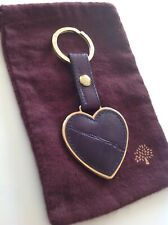 Stunning Mulberry Keyring Rare Purple Heart Congo New Condition With Dust Bag.