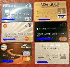 VINTAGE COLLECTIBLE CREDIT CARDS ~ LOT OF 6 DIFFERENT VISA & MASTERCARDS