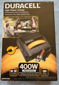 Duracell - 400W High Power Inverter with USB Port - Black