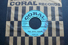 """7"""" Jackie Lee - Baby Buggy Boogie/ Sippin Soda - USA Coral Promo"""
