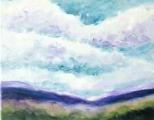 Original Oil Painting of Clouds Over South Yorkshire No 2 by Ann Marie Whitton