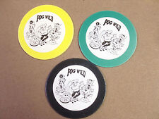 "POG WILD PLAYING BOARDS 4""x4"". 3 DIFFERENT COLORED  POGS/MILKCAPS"