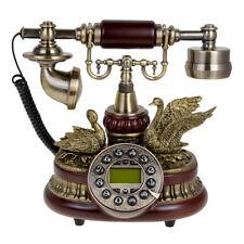 Ceramic Retro Vintage Antique Push Button Dial Desk Telephone Home Living Room