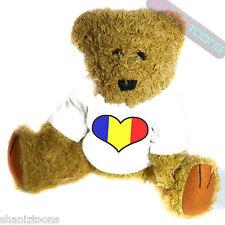 La Romania Amore Cuore Bandiera MASCOTTE Novità Regalo Teddy Bear