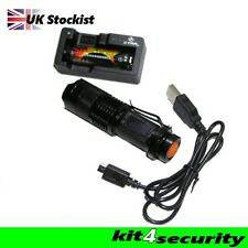 Bright NIGHTHAWK 100 Rechargeable cree Torch flashlight door supervisor bouncer