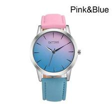 Ladies Fashion Silver Case Rainbow Design Face and Band Quartz Wrist Watch.