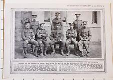 1915 WWI WW1 PRINT ~ N.C.O'S & MEN OF 3rd BEDFORDSHIRE NAMED WON DISTINCTION