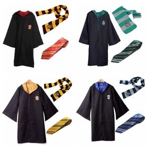 Harry Potter Cosplay Costume Unisex Adult/Kids Gryffindor Ravenclaw Robe Cloak