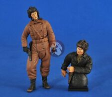 Verlinden 120mm (1/16) Russian Tankers WWII (1 Full figure & 1 Half-figure) 2578