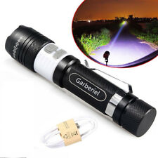 15000Lumens T6 Zoomable Tactical military LED 18650 USB Flashlight Torch Lamp