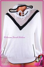 NWT Victoria's Secret Hoodie Sweater 100% Cotton Cozy Long Sleeve White Black M