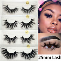 Thick Long Wispies Fluffy False Eyelashes Eye Lashes Extension  3D Mink Hair