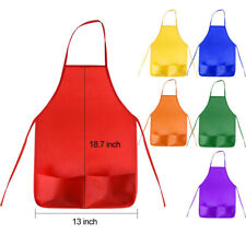 Kids Aprons Children Painting Cooking Apron Art Smocks Craft Supplies 12 Pack